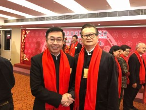 國際博士後協會會員獲「香港專業及資深行政人員協會」邀請出席元宵酒會和校友出席與局長和人大代表合影留念