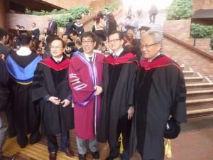 2014年12月8日本會會長陳勤業博士後與獲2014傑出成就獎郭位教授JP(香港城市大學校長)